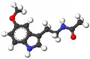 Молекула гормона мелатонина