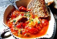 рыбный суп с томатами