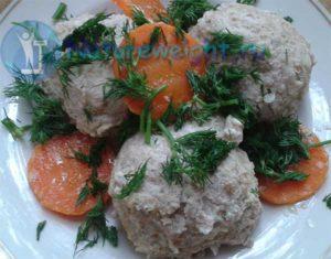 тефтели из трески с морковью и укропом