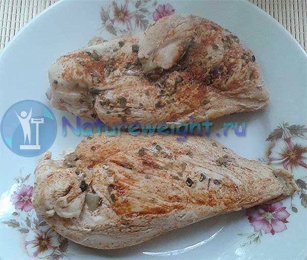 куриное филе в пряностях, приготовленное на сковороде