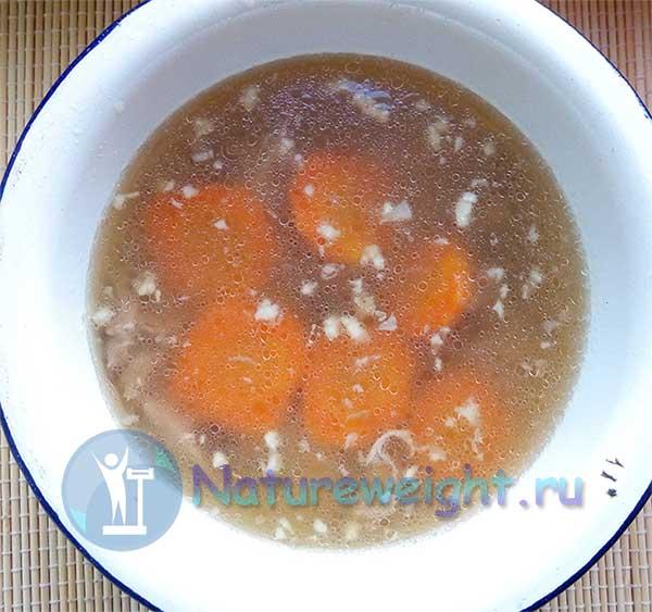 студень из шей индейки с морковью