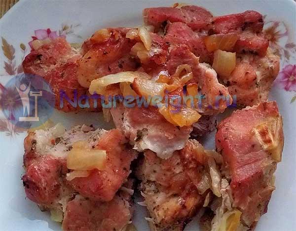 свиной шашлык, приготовленный в рукаве