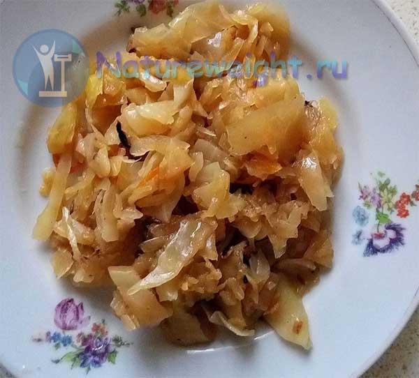 постная солянка из свежей и квашеной капусты