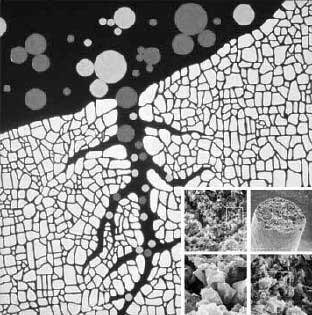 схематичаское изображение структуры активированного угля