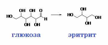 синтез молекулы эритрита