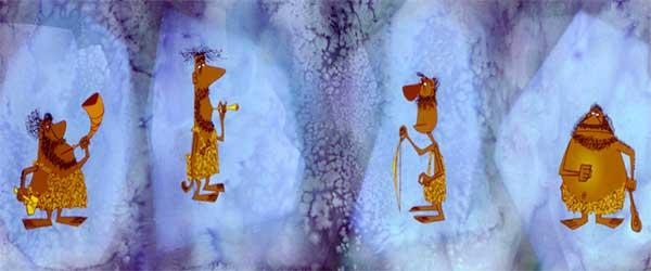 рисунок пещерных людей
