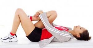 Уставшая девушка-спортсменка