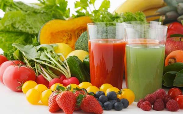 ягоды, овощи, соки