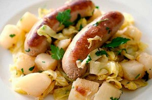 сосиски с картофелем