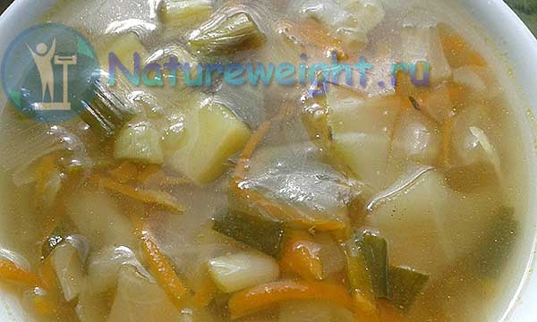 овощной суп для похудения со свежей капустой
