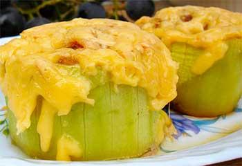 кабачок, запеченный с сыром