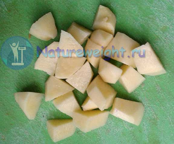 куски картофеля