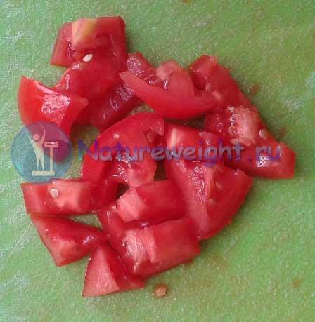 Мелко порезанные помидоры
