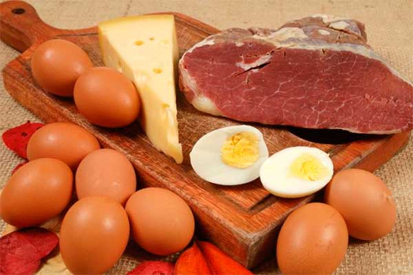 мясо, яйца, сыр