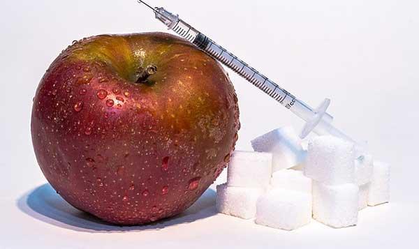 яблоко и сахар