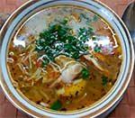 куриный суп с лапшой ширатаки