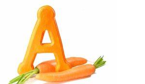 буква А и морковка