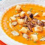 грибной суп с тыквой