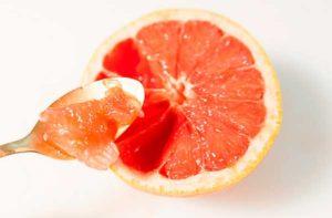 разрезанный грейпфрут