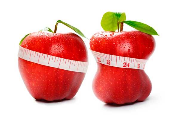 """картинка """"похудевшего"""" яблока"""