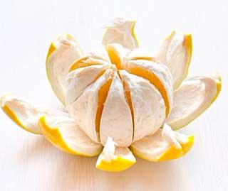 очищенный плод Cītrus māxima