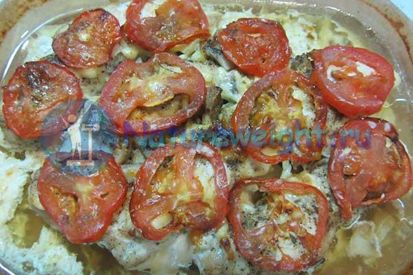 запеченое с помидорами