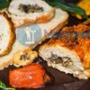 Рецепт рулета из куриной грудки с грибами и сыром (инструкция с пошаговыми фото)