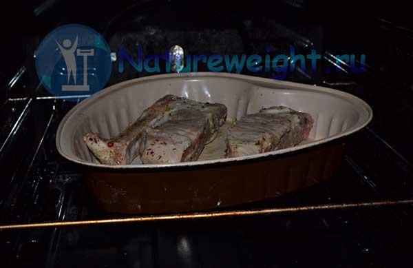 процесс запекания в духовке