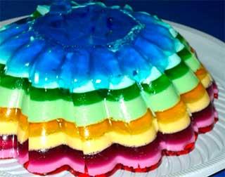 разноцветное десертное желе