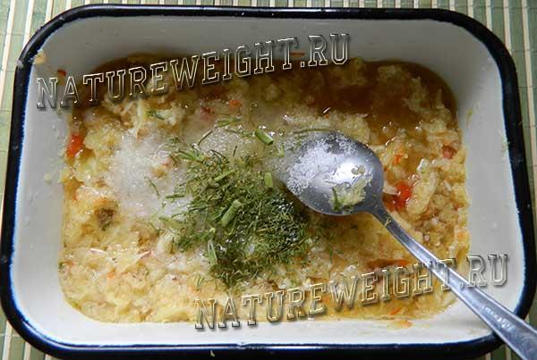 овощное пюре с зеленью