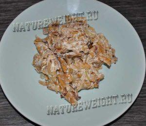 тарелка с готовым блюдом