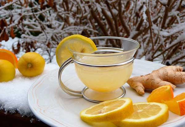 чай, имбирь и снег