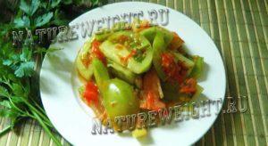 зеленые томаты по-корейски
