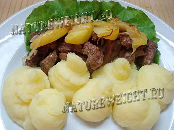 гарнир из картофельного пюре