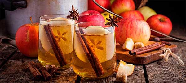 пунш с добавлением яблок