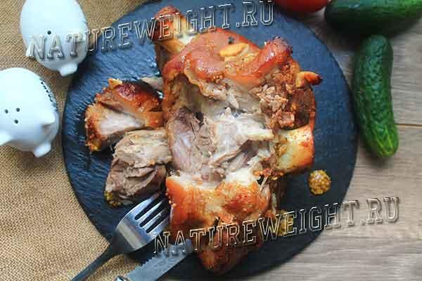 готовый кусок свинины