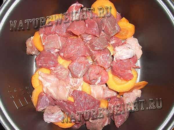 говядина с морковкой