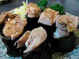 суши с печенкой трески