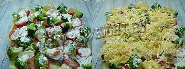 добавление соуса и сыра