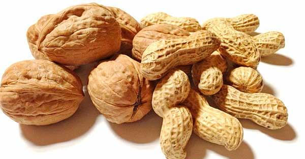 арахис и грецкие орехи