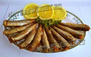 салака с лимоном