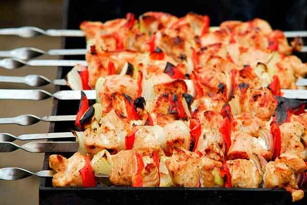 шампуры с мясом