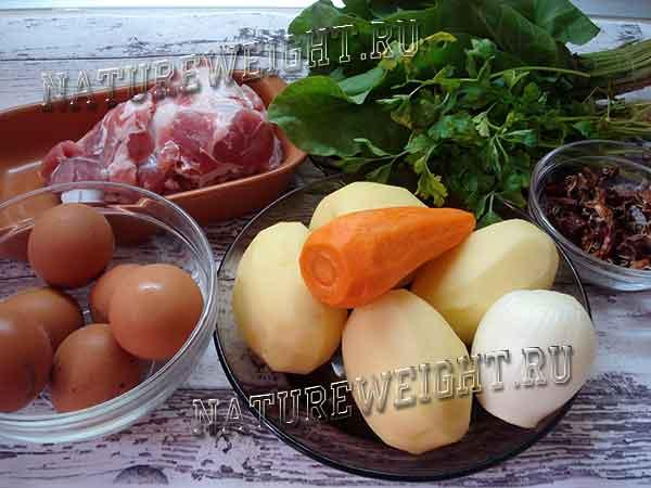продукты для весеннего борща