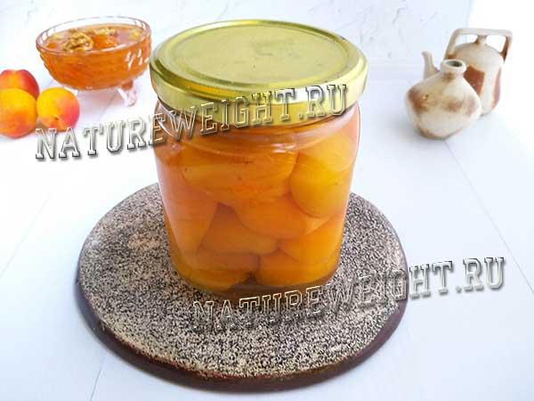 абрикосы в собственном соку