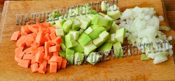 подготовка исходных овощей