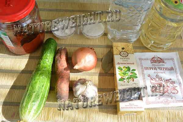 огурец и другие овощи