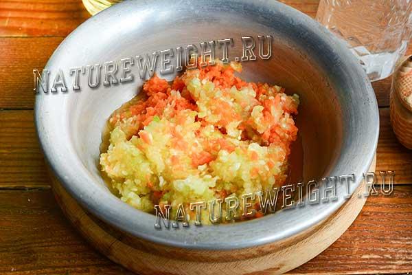 овощная смесь в миске