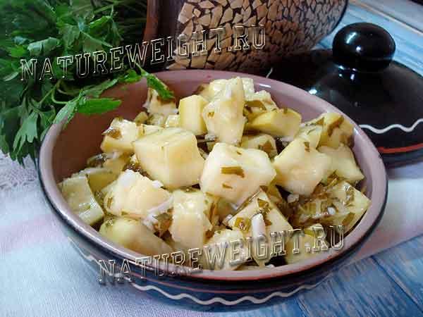 кабачки как грибы на тарелочке