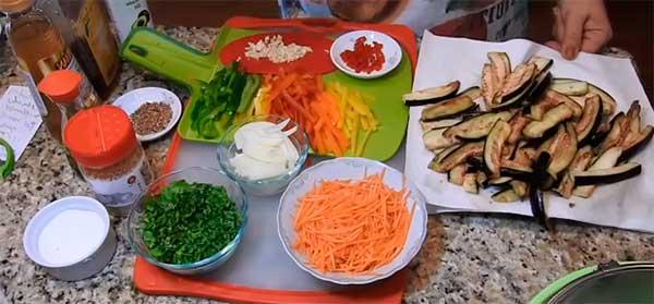 нашинокованные овощи