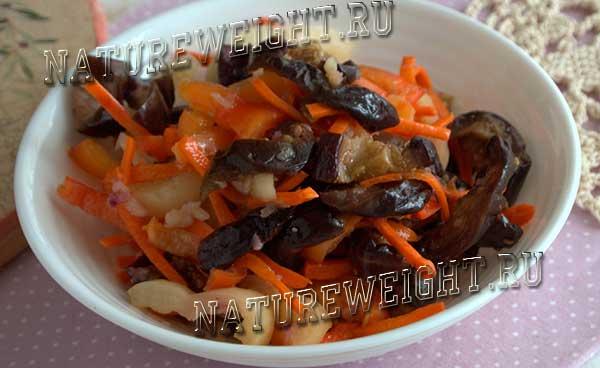 салат из баклажанов по-корейски